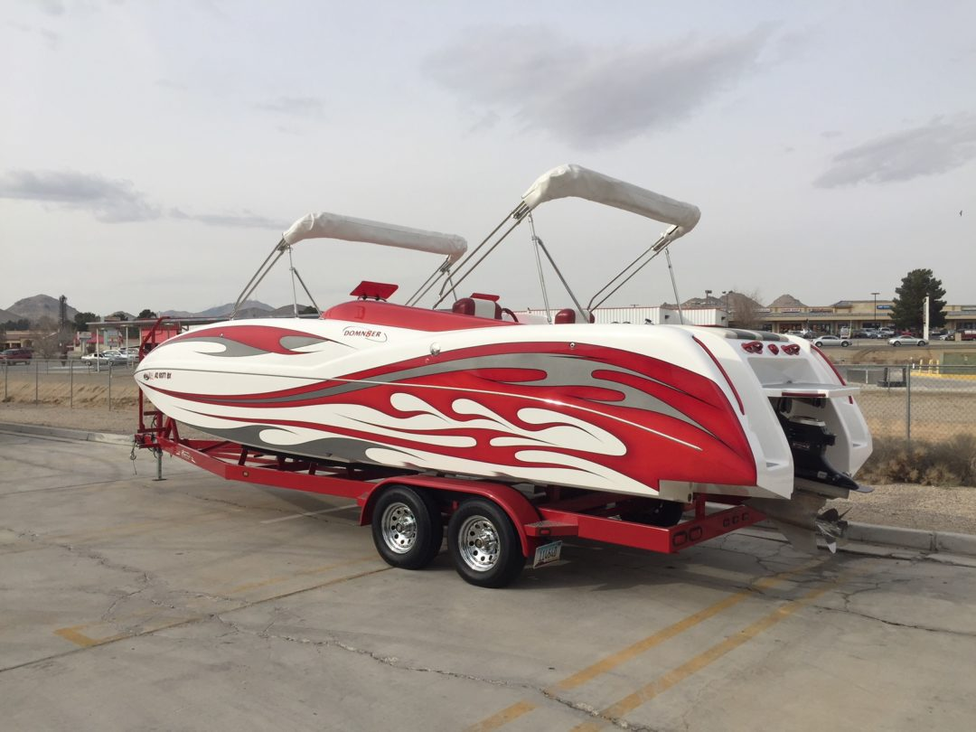2016 Domn8er Deck Boat **40 Hours** 600 HP with SCX Drive..SOLD