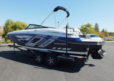 2019 Monterey M6 deck ,New royal blue and titanium colors, just in!!