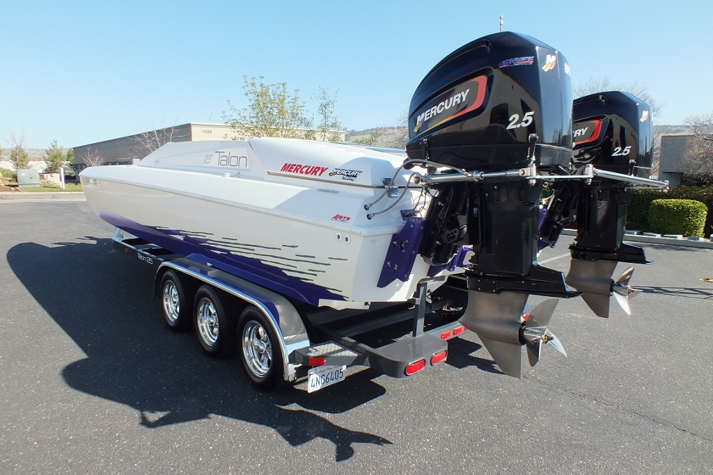 1996 TALON 25 Tunnel cat with Twin 260′ Mercs,SOLD!