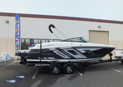 Only 2 Left In Stock! 2019 Monterey M6 Deck Boat w/ lots of upgrades (Black and Titanium)